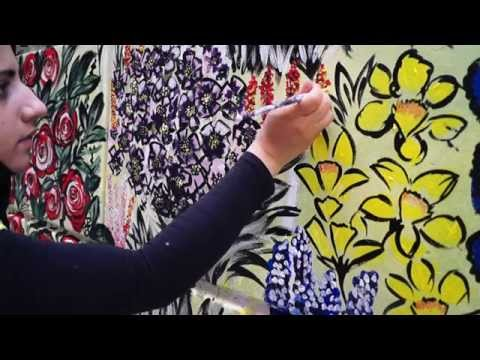 Painting an Art Mural in Kuwait | Fatema's Art Show