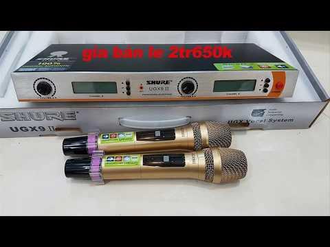 Bán buôn bán lẻ míc karaoke UGX9II, shupu. shure bose. CA...... giá rẻ