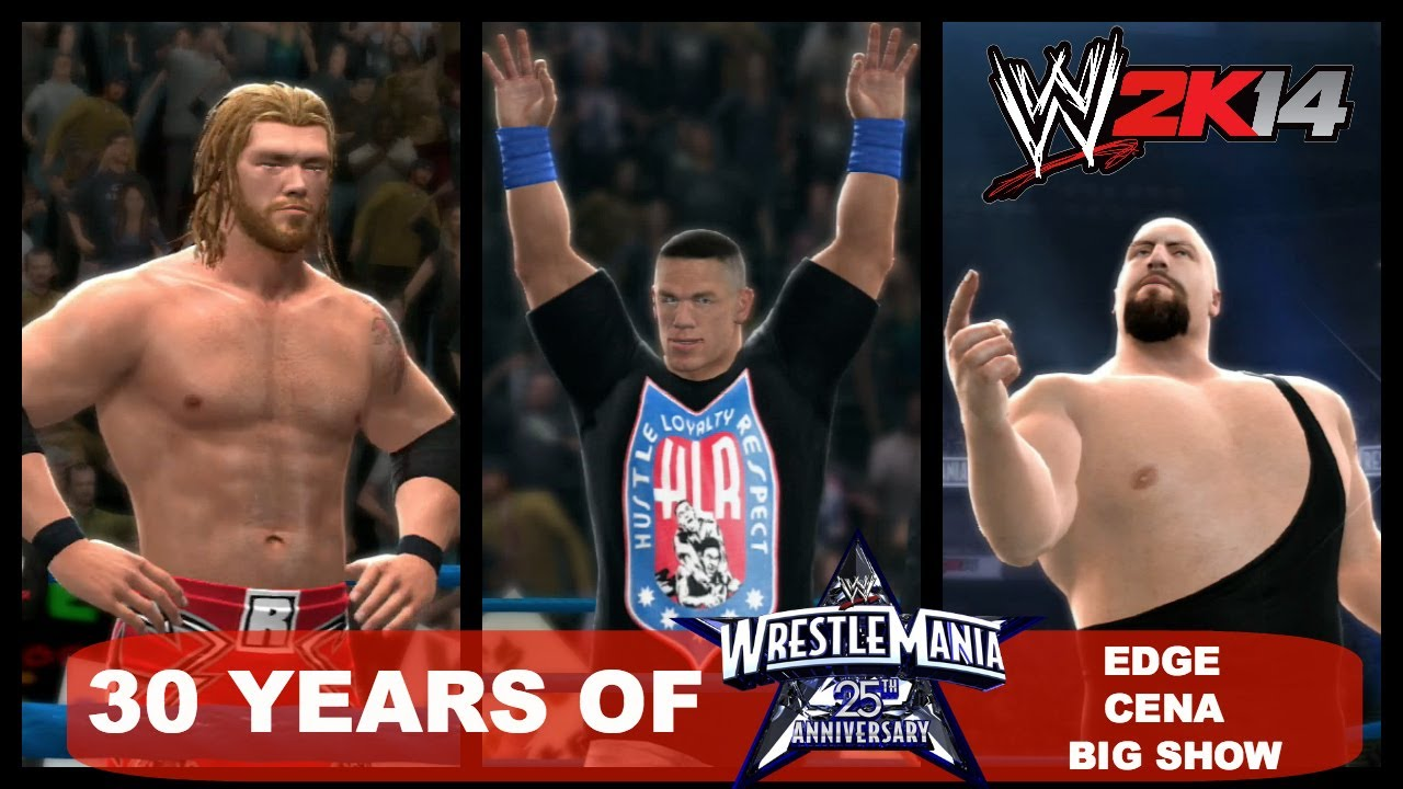 wwe 2k14 30 years of wrestlemania ep34 edge vs john