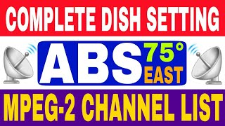 ABS Free Dish Complete Dish Setting And Channel List Mpeg- 2 STB | By Pure Tech