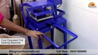 Foot Operated Foil Sealing Machine