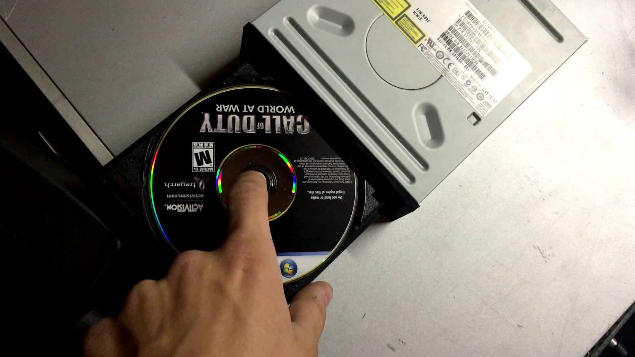 How to get a stuck cd out