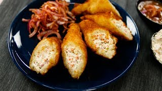 Dahi ke Sholay - Bread Rolls Curd Fire Kabab Recipe - Snacks CookingShooking