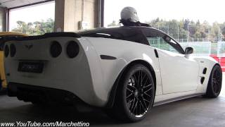 corvette zr1 akrapovic sound start ride and accelerations
