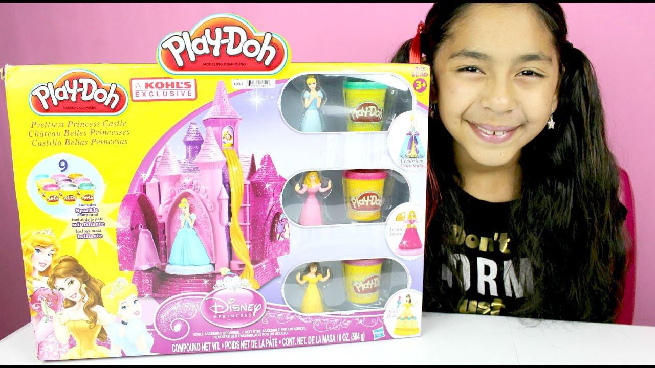 Tuesday Play Doh Disney Princess Castle Belle Cinderella Aurora