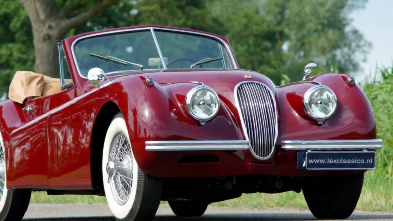 1954 jaguar xk 120 drop head coupe youtube. Black Bedroom Furniture Sets. Home Design Ideas
