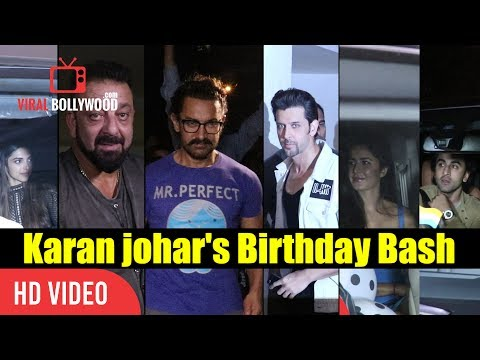 Bollywood Top Celebrities At Karan Johar Birthday Bash | Aamir, Hrithik, Katrina, Ranbir And Many