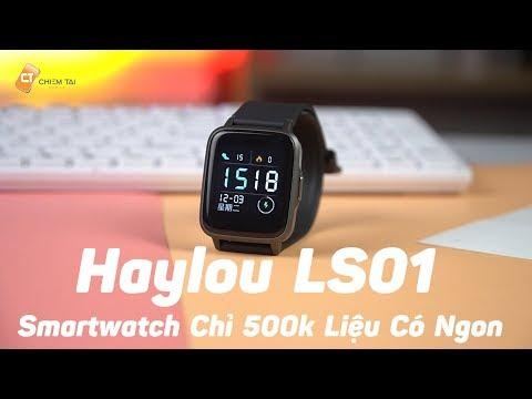 Xiaomi Haylou LS01 - Smartwatch Giá Hủy Giệt Chỉ Hơn 400k Liệu Có Đáng Mua Hơn Mi Band 4!!