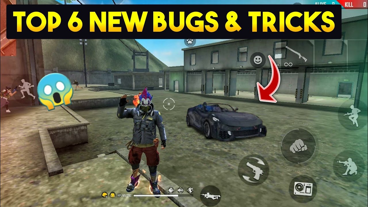 TOP 6 NEW TRICKS IN FREE FIRE || LATEST BUGS AND TRICKS - GARENA FREE FIRE