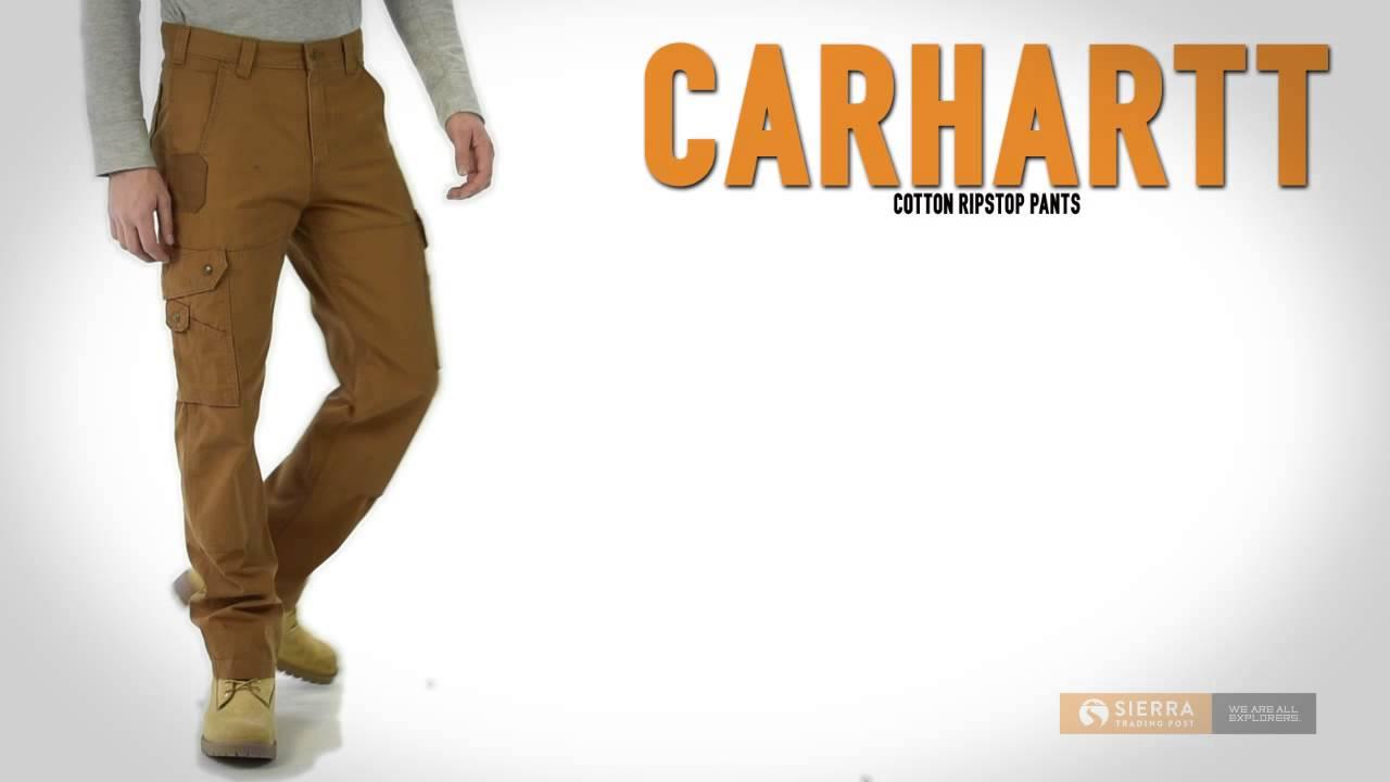 5b8550d7c4 Carhartt Cotton Ripstop Pants (For Men) - YouTube