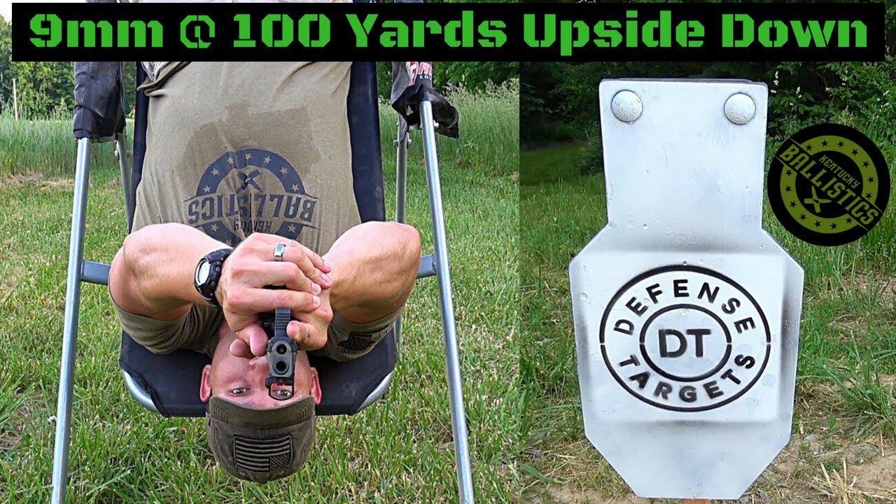 Upside Down Pistol Shooting At 100 Yards?
