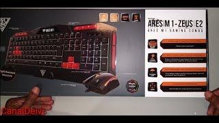 combo Gamdias Teclado Ares M1 e Mouse Zeus E2 3200DPI unbox