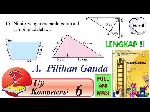 Uji Kompetensi 6 Hal 45 Mtk Kelas 8
