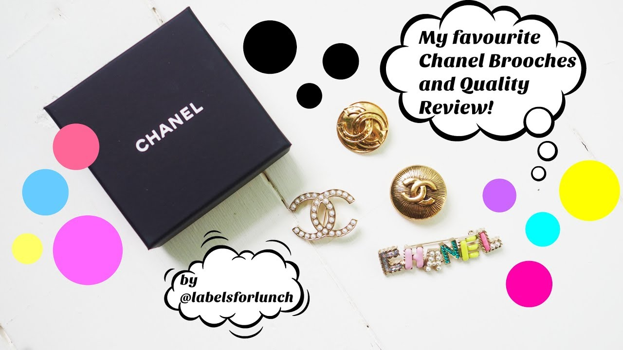 332cfb146e2a My favourite Chanel brooches! Where I got them and review video ...