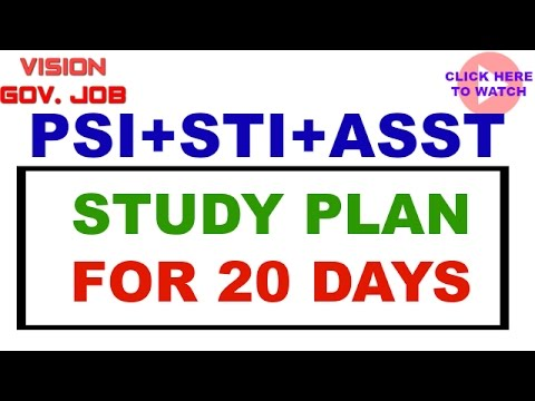 || PSI STI ASSISTANT || Combine exam || Study Plan ||