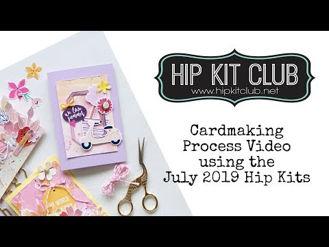 Cardmaking Process Video using the July 2019 Hip Kits | Christina Buresch-Leyrer