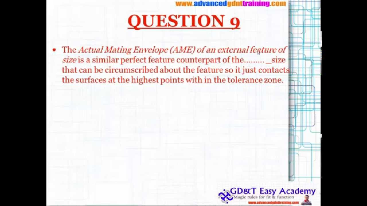 Asme Iso Gd T Tutorial Training On Questions And Answers