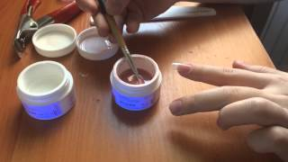 гелевое наращивание ногтей на типсах