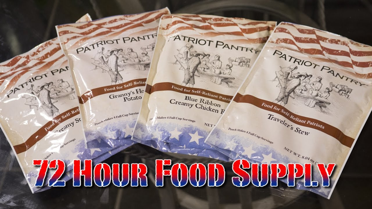 72 Hour Survival Food Supply Review From My Patriot Supply ...