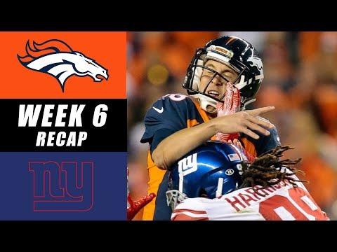 New York Giants vs Denver Broncos Recap: Week 6 2017