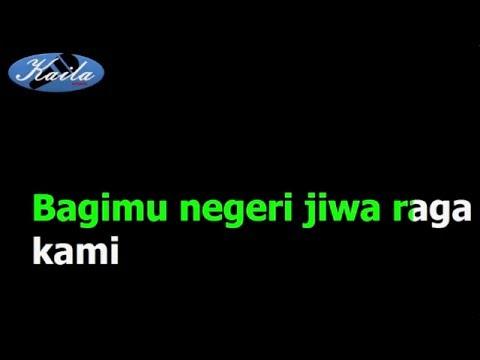 Kusbini - Lagu Bagimu Negeri (Versi Karaoke Indonesia Tanpa Suara)