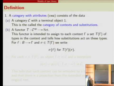 On the Setoid Model of Type Theory - Erik Palmgren