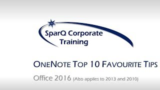 OneNote 2016 Top 10 Favourite Tips