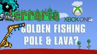 Terraria Xbox One Let's PĮay - Golden Fishing Rod + Lava? [129]