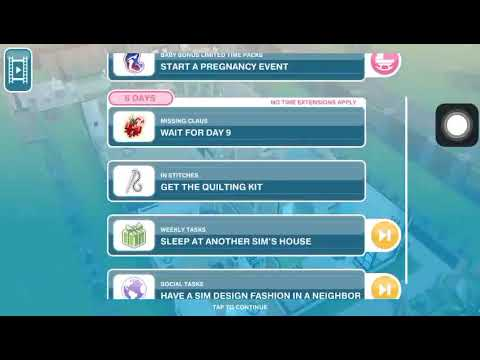 Weekly Tasks Sleep At Another Sim S House The Sims Freeplay Youtube
