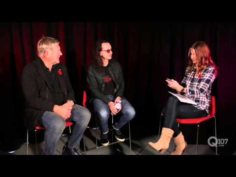 RUSH Answer Questions From Their Fans - Interview @ Q107