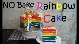 Download Video No Bake Rainbow cake   Vanilla Cake base   Vanilla buttercream Frosting MP3 3GP MP4