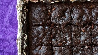 Whole Wheat Dark Chocolate Brownies - No Butter, Ready in 30 Minutes!
