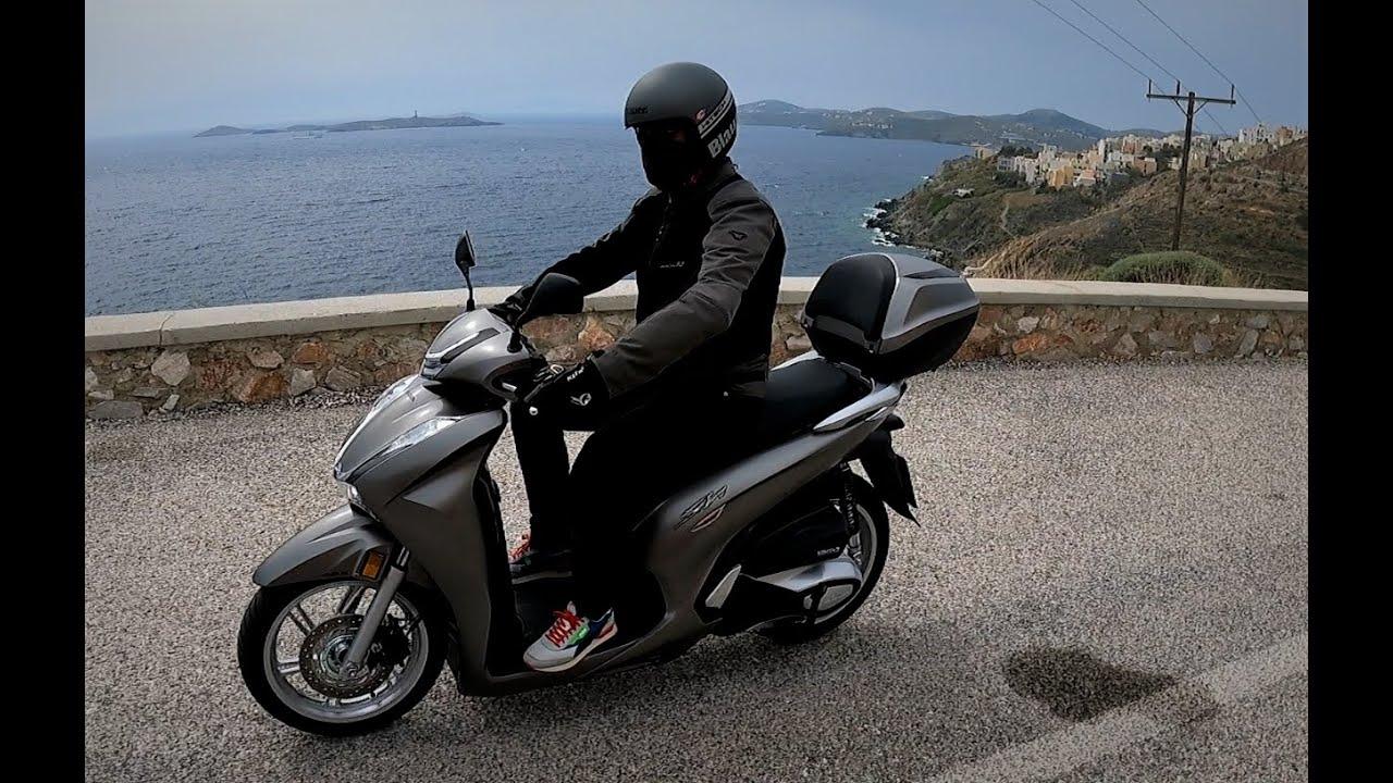 HONDA SH350i Tesst Ride in Syros Greece Island