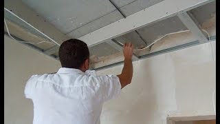 ПОТОЛОК из ГИПСОКАРТОНА и НАТЯЖНОЙ! МОНТАЖ потолка из ГИПСОКАРТОНА! потолок из гипсокартона ВИДЕО(, 2017-07-16T01:24:17.000Z)