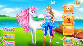 Amazing girl dress up her horse and herself, How to make horse beautiful for kids