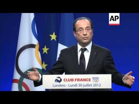 French president speaks about eurozone and Syria during Olympic visit