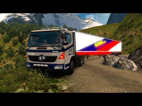 ETS2 Hino 500 Ruta por Colombia con remolque largo! Bogotá a Manizales Euro Truck Simulator 2