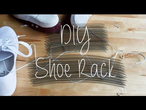 DIY Shoe Rack (Wire Hangers)