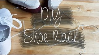 Diy Shoe Rack (wire Hangers)
