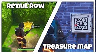 Retail Row Row Treasure Map Challenge - Week 7 Battle Pass - Fortnite BR