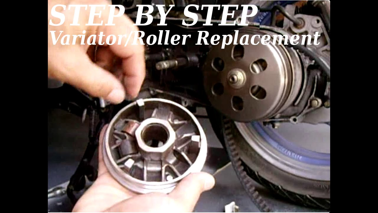 STEP BY STEP) GY6 Variator/Roller Replacement & Tips - YouTube