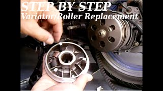 (STEP BY STEP) GY6 Variator/Roller Replacement & Tips