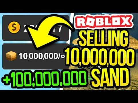 SELLING 10,000,000 SAND in TREASURE HUNT SIMULATOR