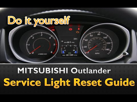 Mitsubishi Outlander Service Oil Life Light Reset Guide