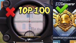 Will this Stop Novaking from Reaching top 100? | Conqueror tier | Pubg Mobile