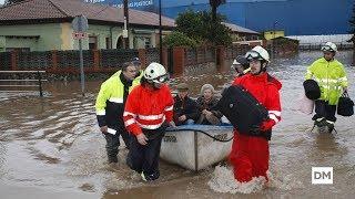 La crecida del Besaya inunda zonas de Torrelavega y anega Solvay