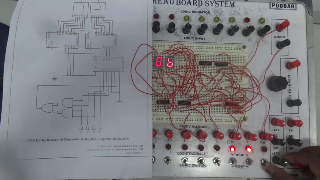 Keypad Circuit That Will Convert From Decimal To Bcd Decimal
