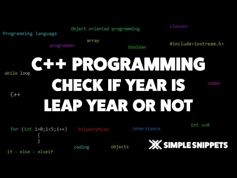 C++ program to Check for Leap Year condition | C++ programming tutorials for beginners