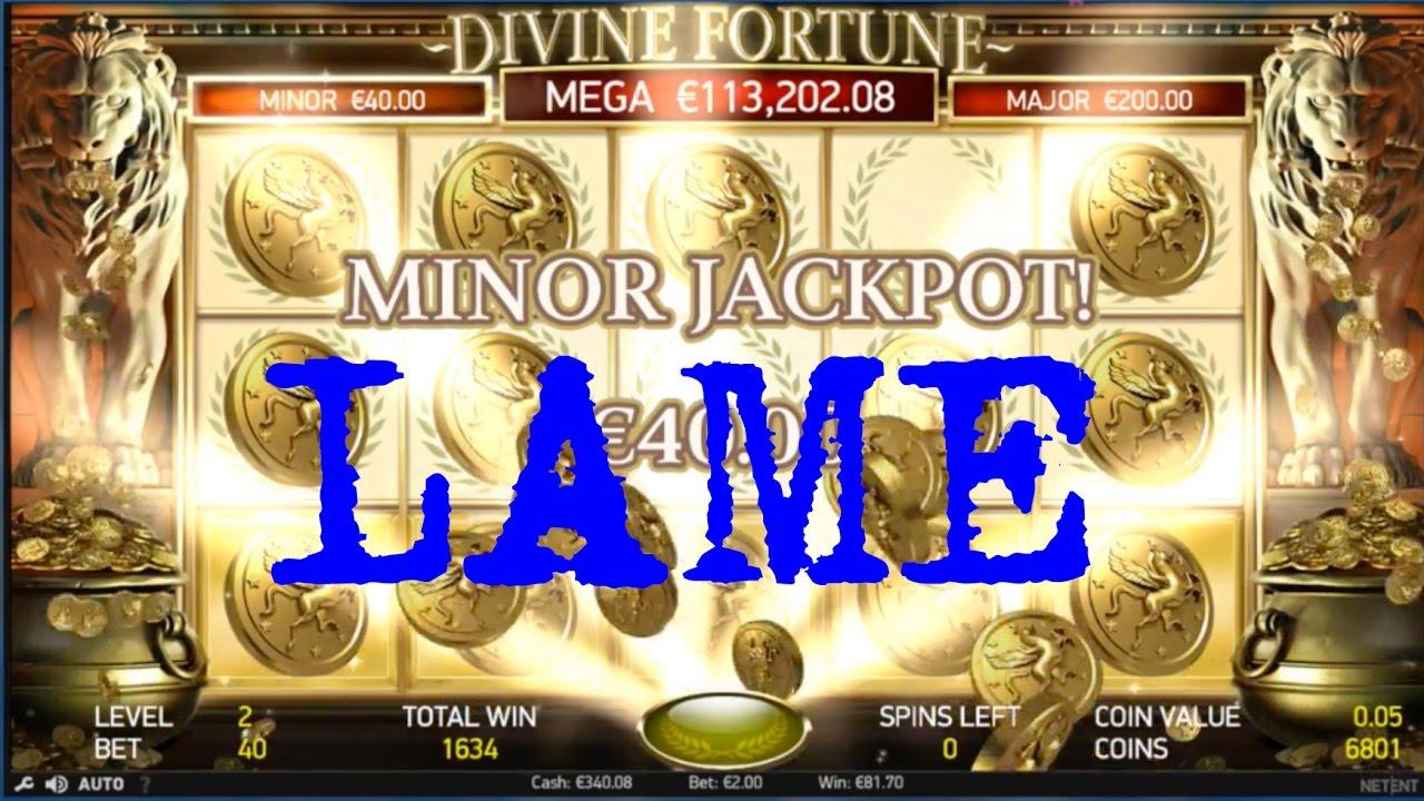 Divine Fortune Jackpot Win