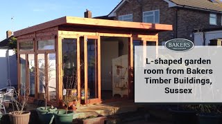 L-shaped Garden Room From Bakers Timber Buildings, Sussex